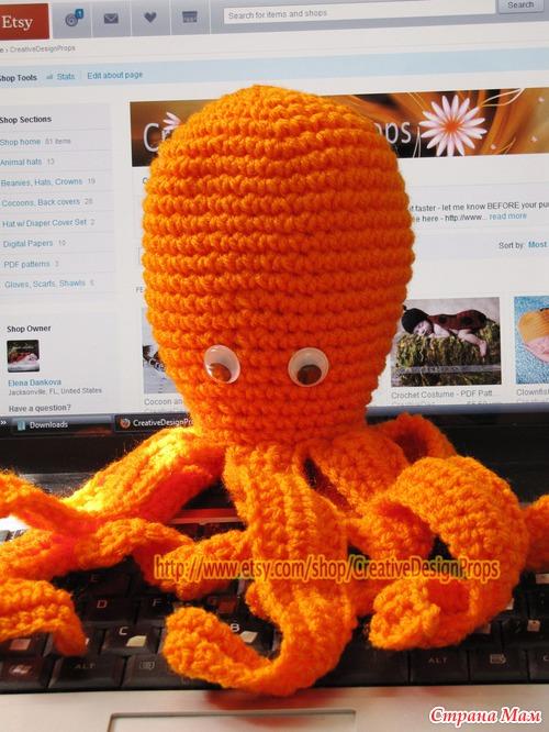 Олли осьминог (Игрушка, декор