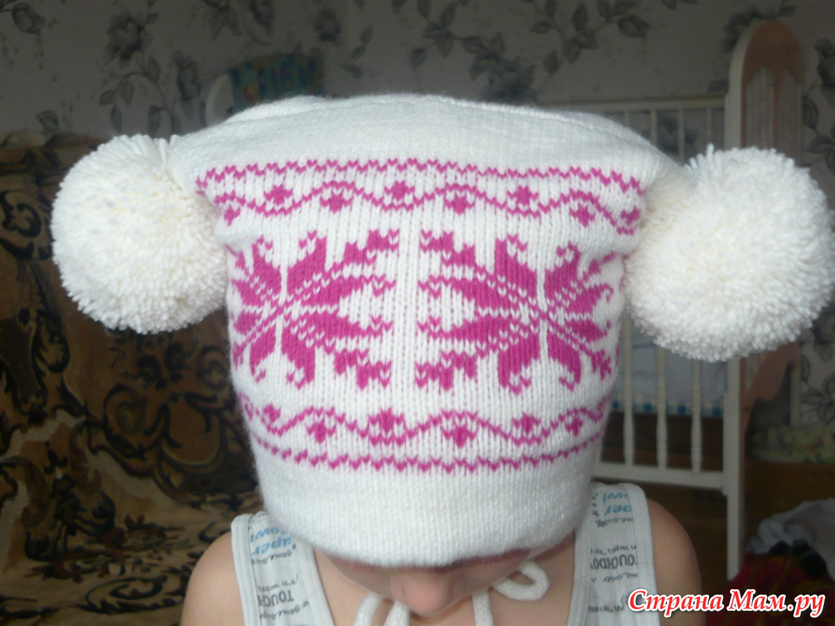 Вязание шапки мастер класс для девушки