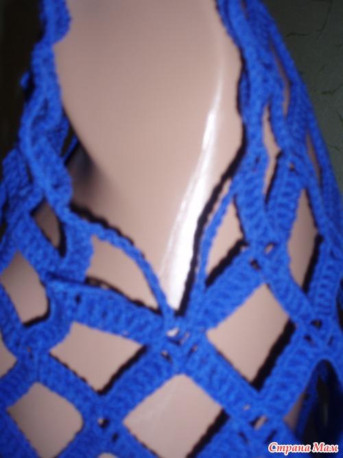 Вязание крючком кофта сетка мастер класс