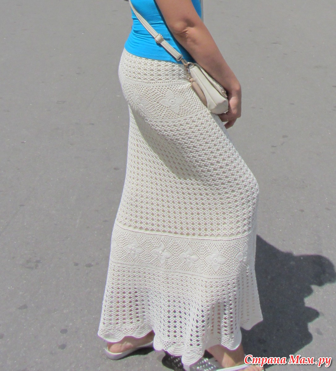 Вязание женской юбки крючком