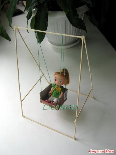 Как сделать качели своими руками для кукол