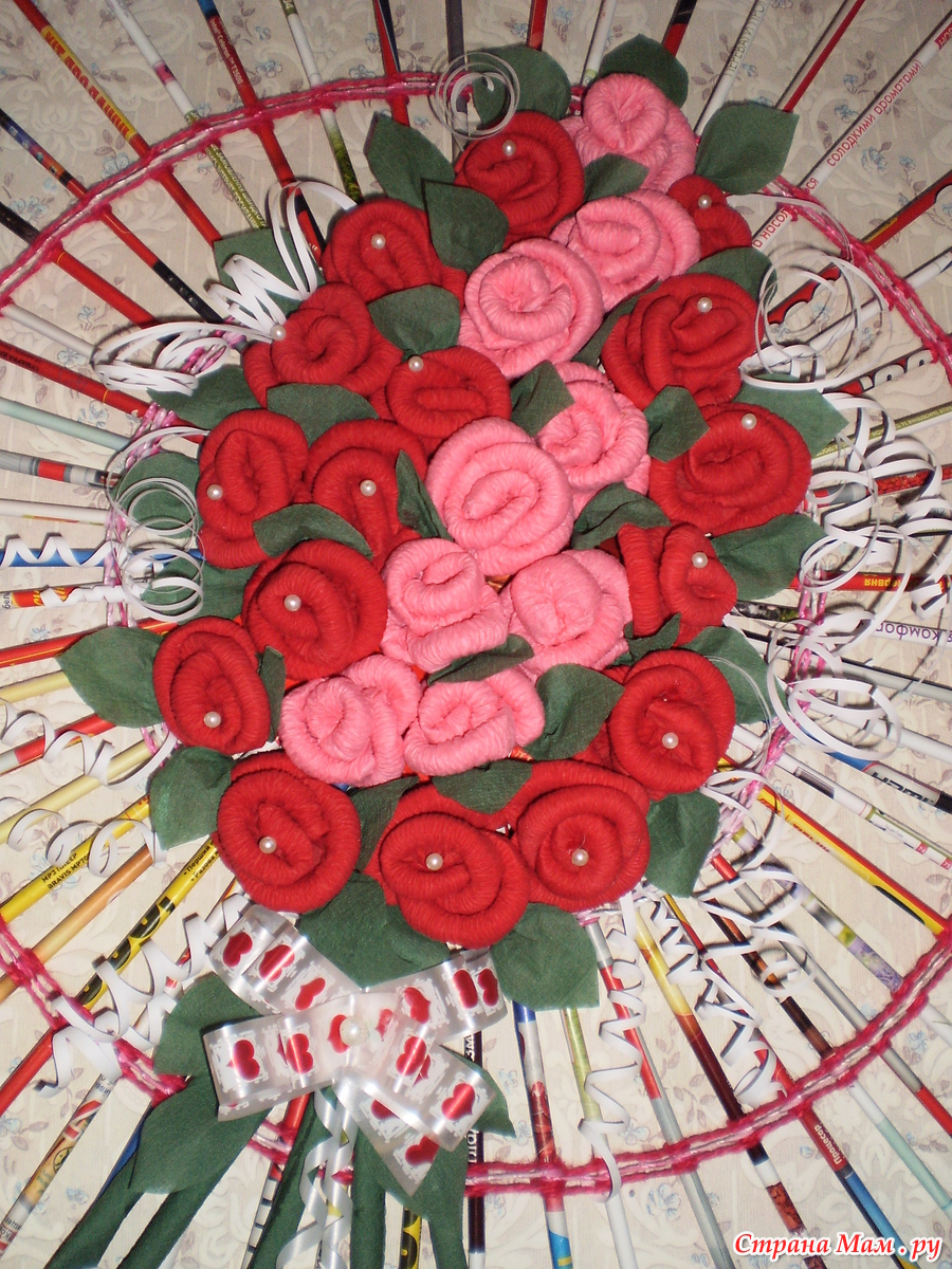 Панно из роз своими руками