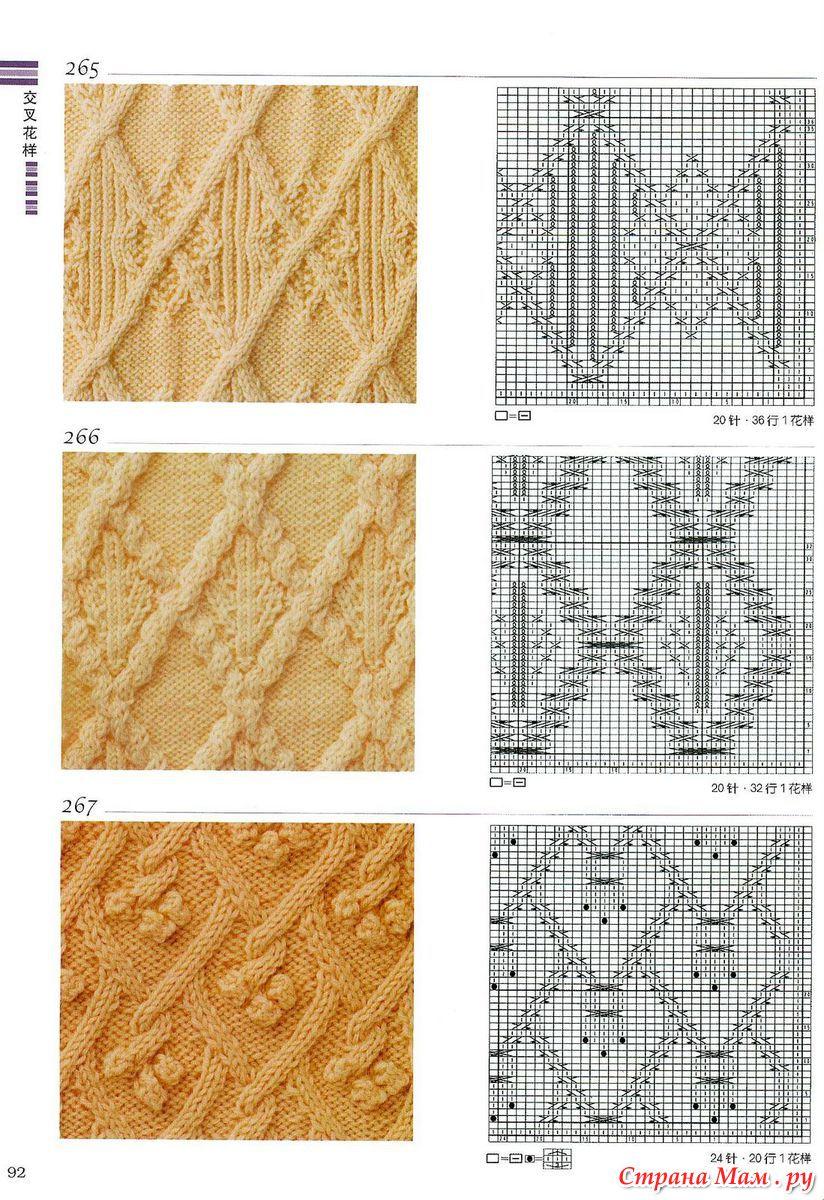 Узоры для вязания жгуты и ромбы