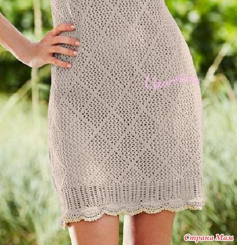 Основной узор платья - это