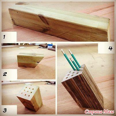 Как сделать органайзер для ручек и карандашей