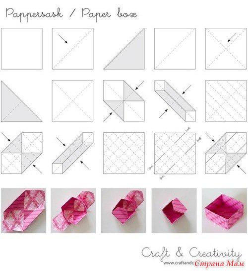 Простая оригами коробочка