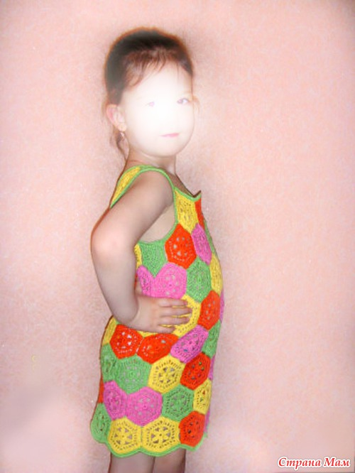 Платья для девочек-красавиц крючком