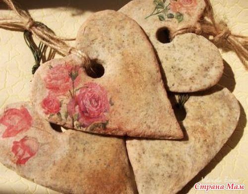 Декоративные сердечки из соленого теста - Шкатулка идей - Страна Мам