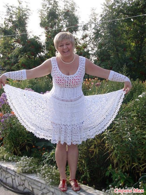 Свадебные платья вязание