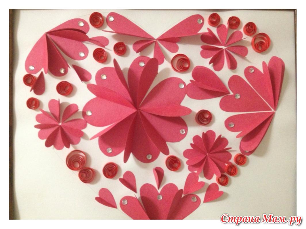 Как сделать красивую поделку из бумаги сердечко 13