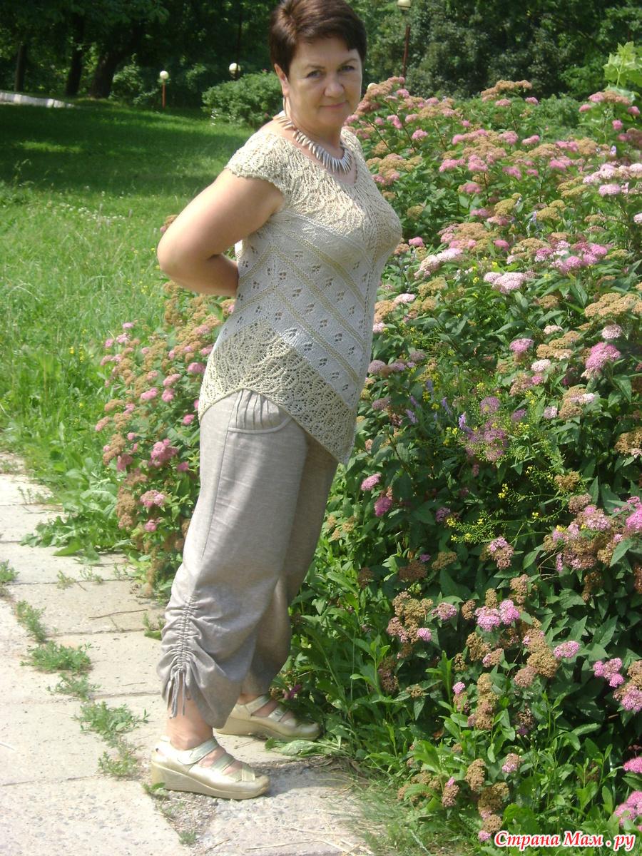 Вязание из льняных нитей