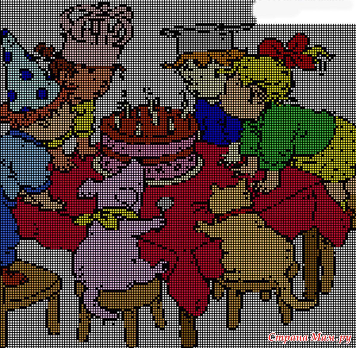 схемы вышивки с днем рождения