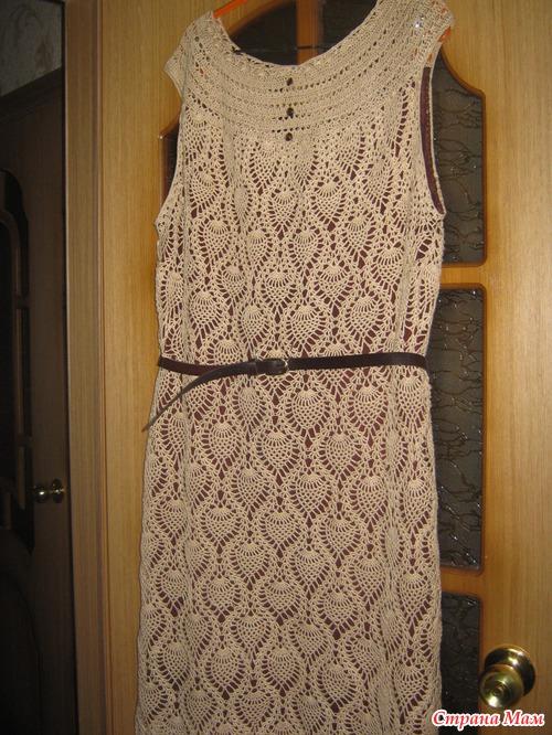 Вязанное платье из ананасов