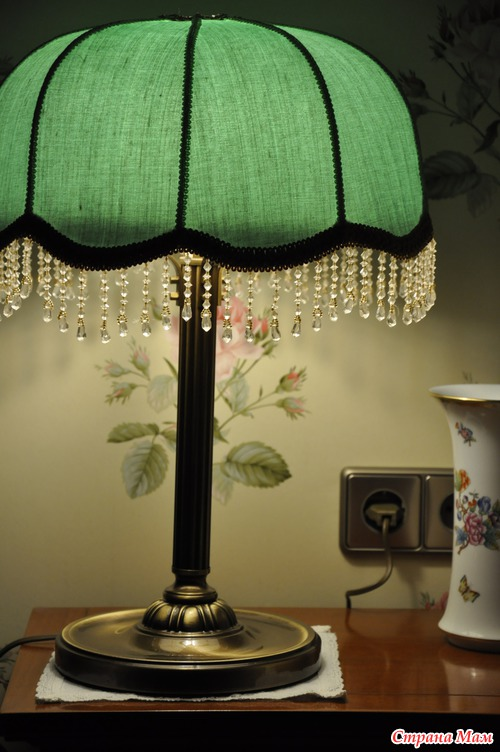 Зеленая настольная лампа своими руками 91