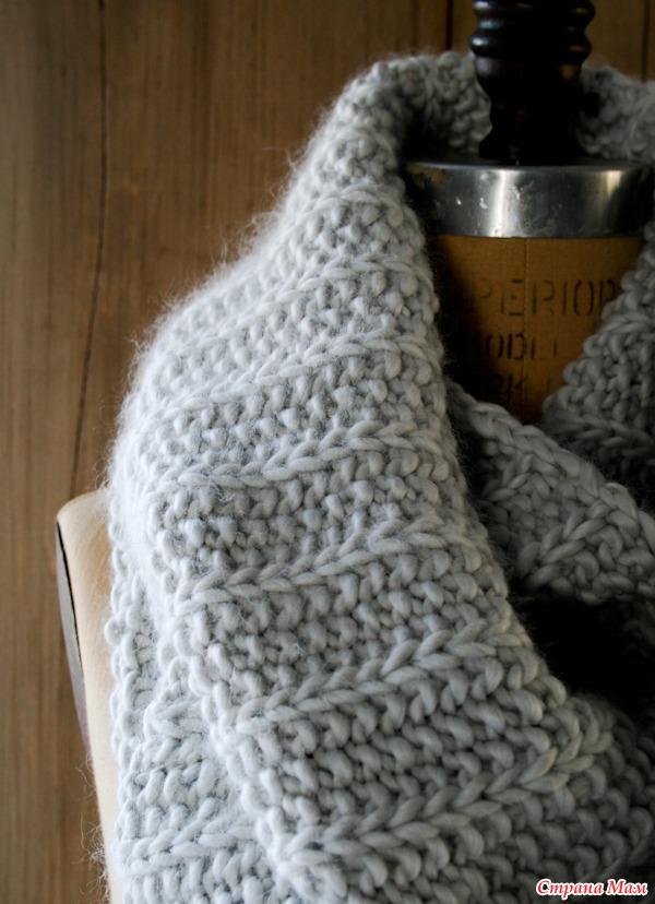 Элегантный шарф-капот (снуд)