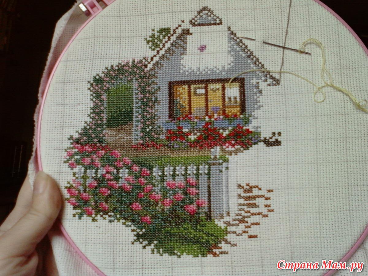 Дом для вышивки схема 55