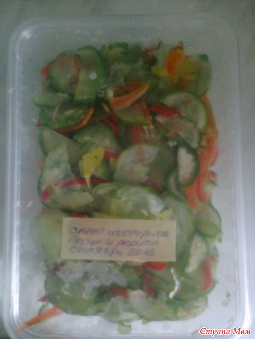 Салат из мороженных овощей фото