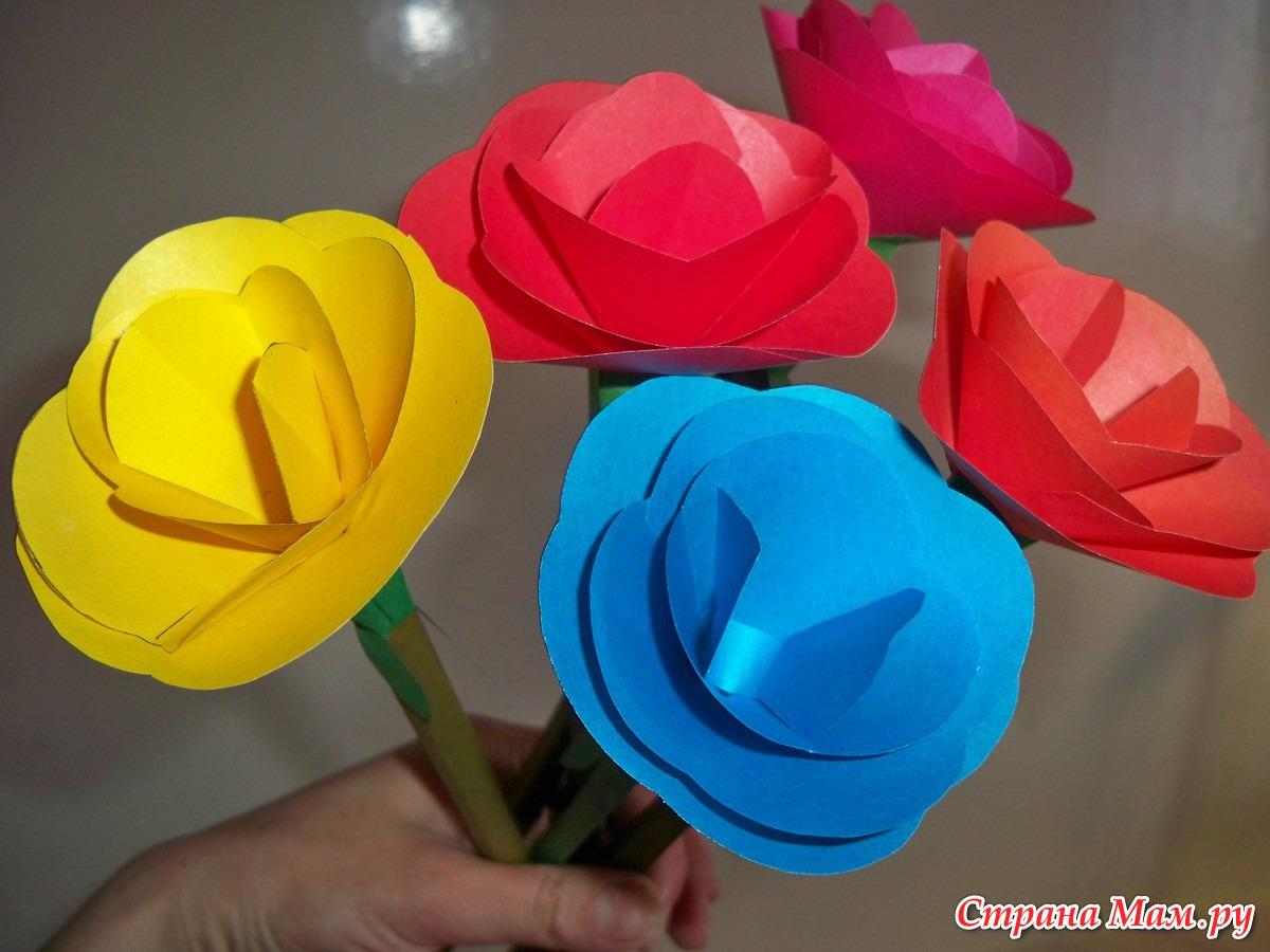 Цветы из бумаги своими руками. Подарок маме на 8 марта 7