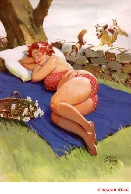 фото спящие толстушки