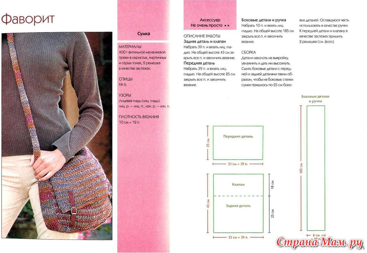 Вязание крючком сумки фото и схемы