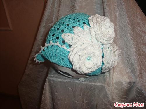 Наряд для дочки Белые розы в бирюзе!