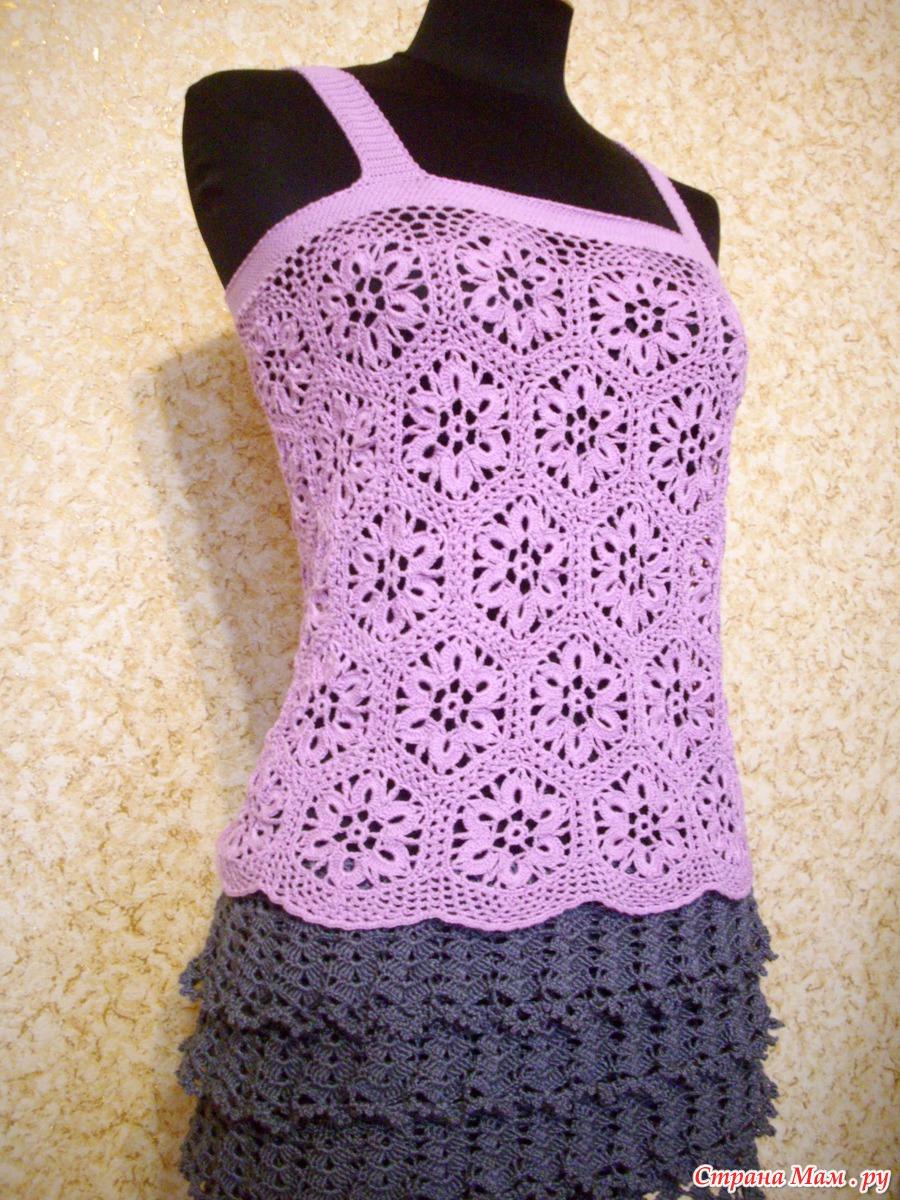 Вязание крючком платье из ленточного кружева крючком 73
