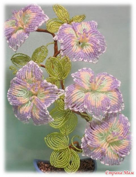 Деревья цветы бисероплетение мастер класс фото