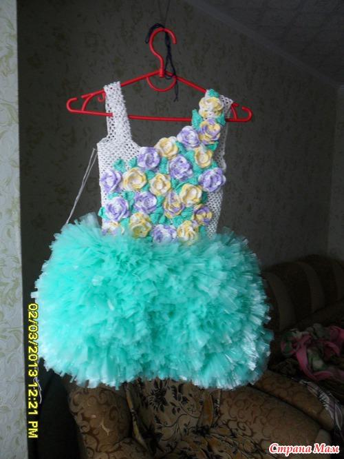 Как сделать платье из пакетов своими руками для детей