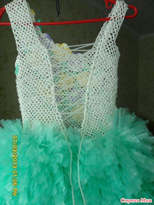 Платье из мусорных пакетов для детей