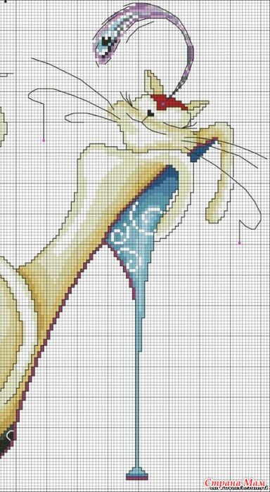 схема вышивки гламурные кошечки.