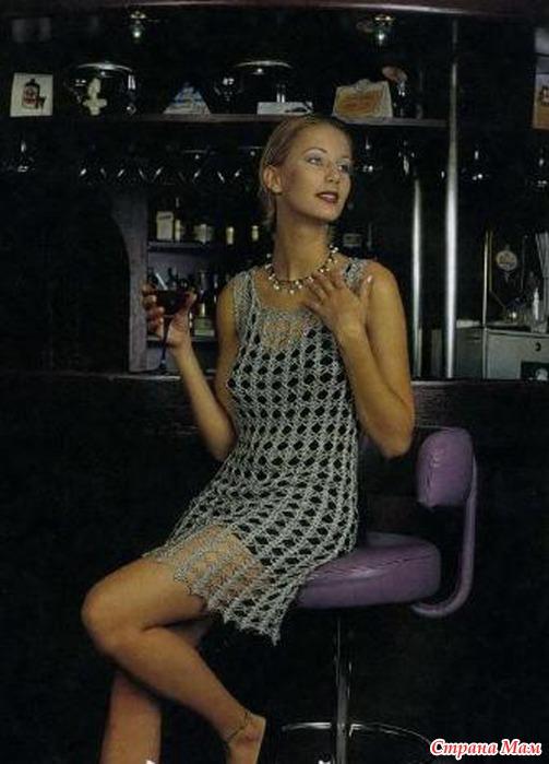Подклад под вязаное крючком платье
