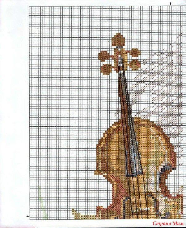 Схема вышивки Скрипка