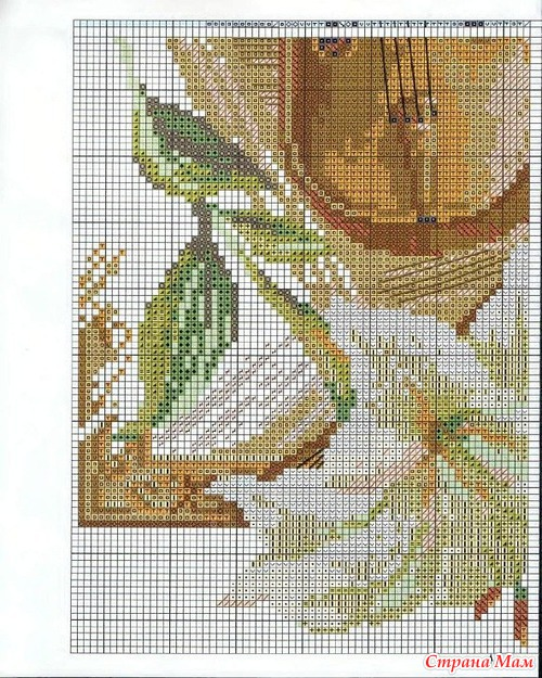 Скрипка схема для вышивки 44