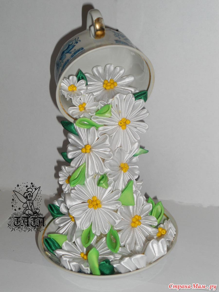 pobedpix.com / Летящая Чашка Канзаши