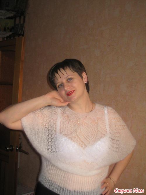 Ажурная блуза из мохера.
