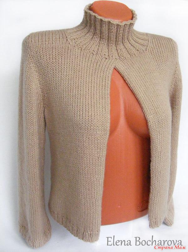 Вязание на спицах кофта без рукав