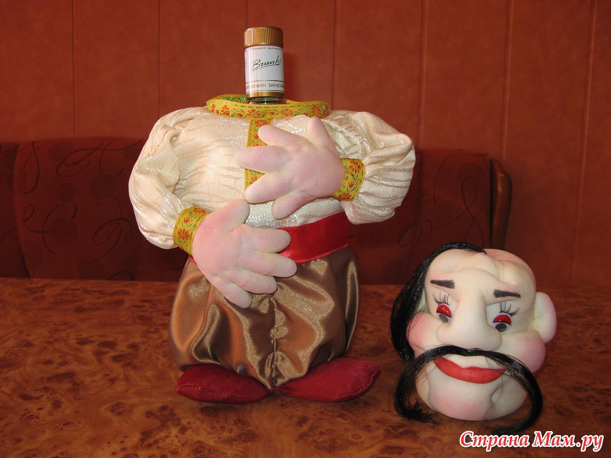 Поделки кукол на бутылке 269
