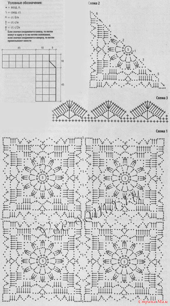 Вязание крючком кардиганы квадратов