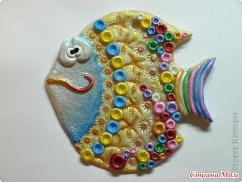 Как сделать рыбку из конфет фото 567