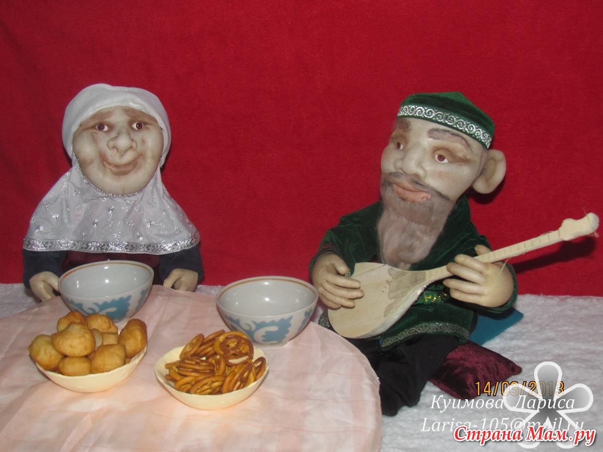 Дедушка и бабушка поделка соленое тесто