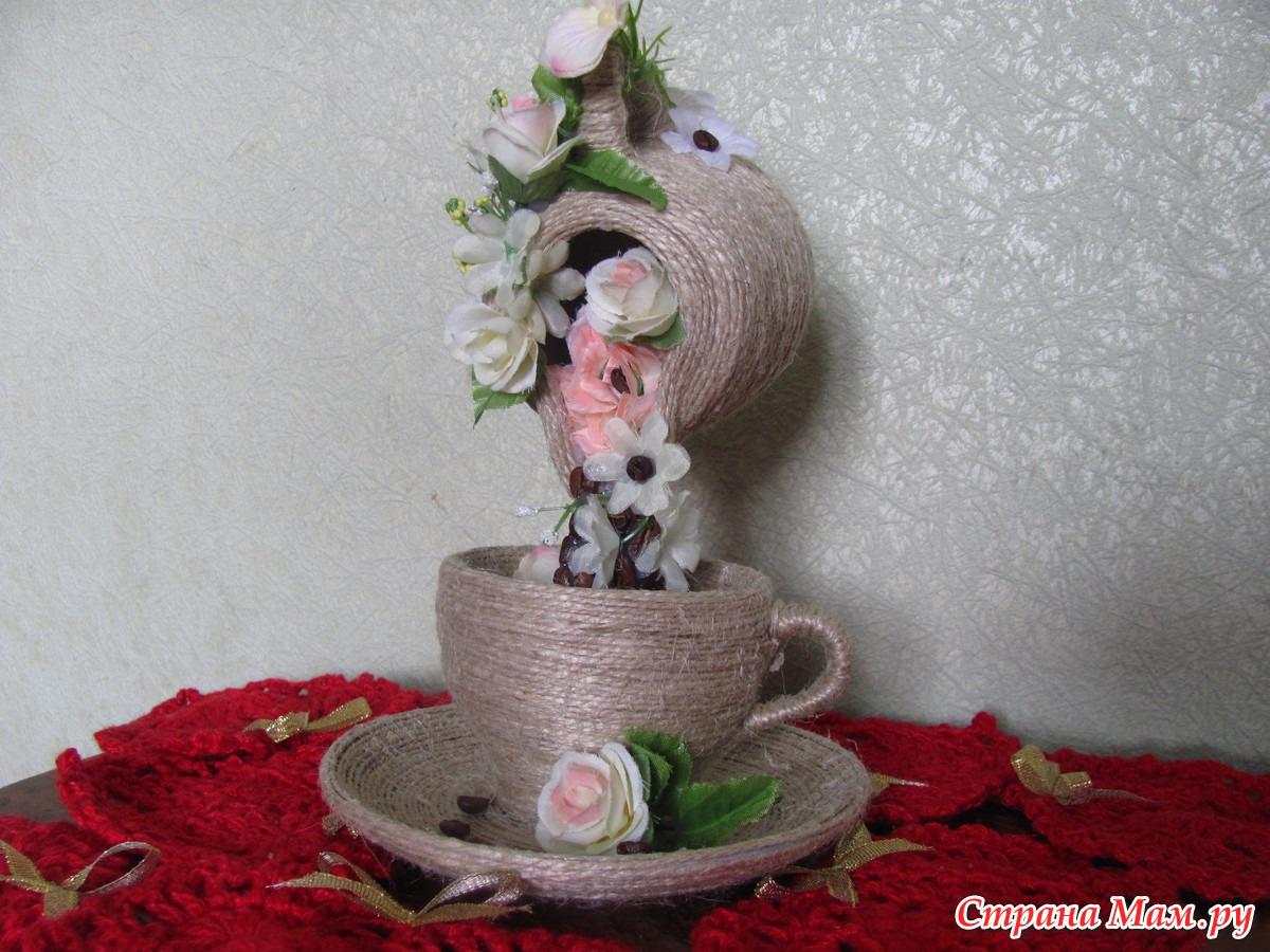 Чашка с цветами пошаговое фото