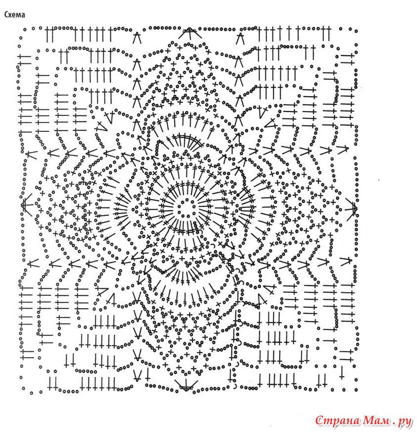 Вязание крючок мотив топы и туника схема и описание 883