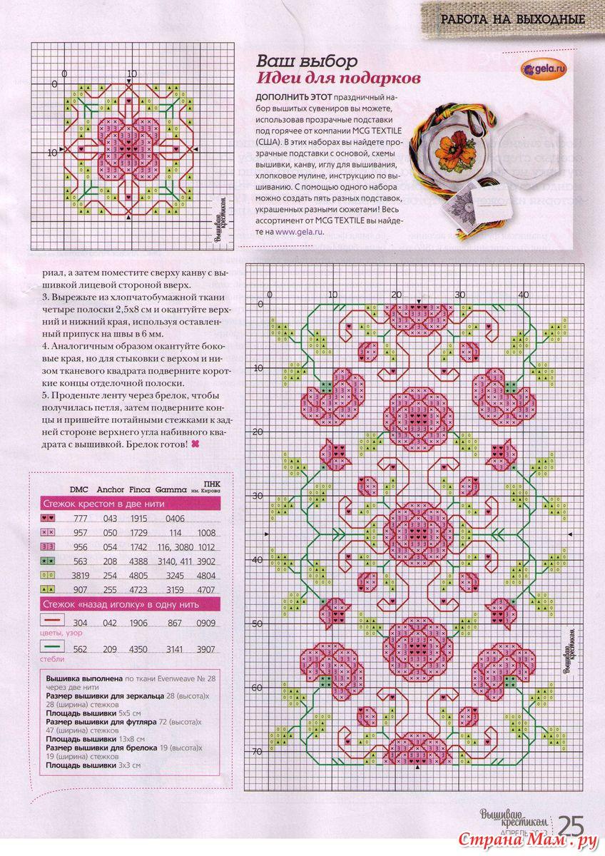 Схемы для вышивки из журнал 738