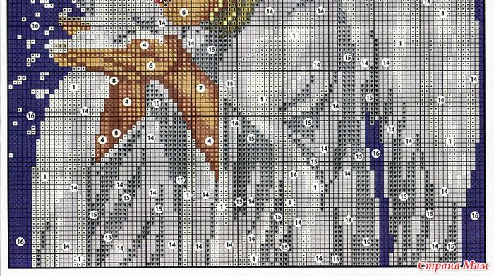 МИЛЫЙ АНГЕЛ схема вышивки