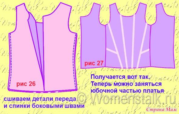 Платье на выпускной шить легко и просто