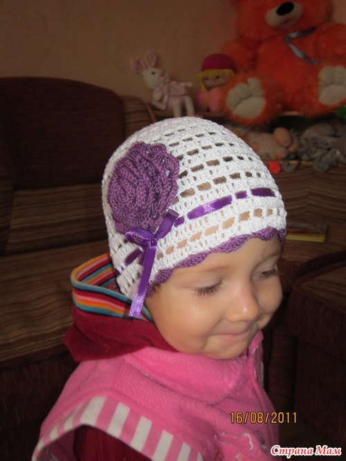 Вязание головные уборы для девочек 63