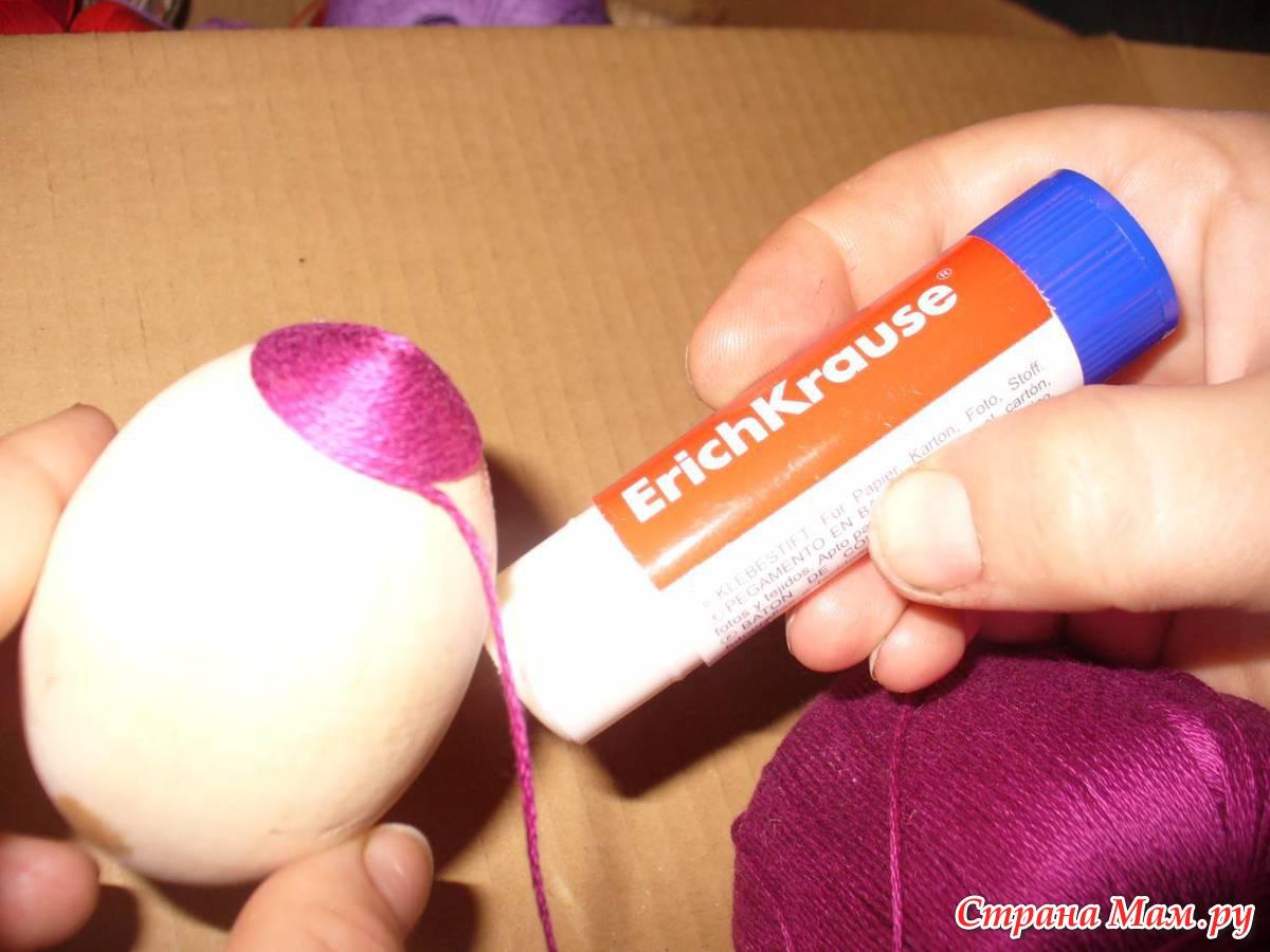 Как сделать яйца для поделки