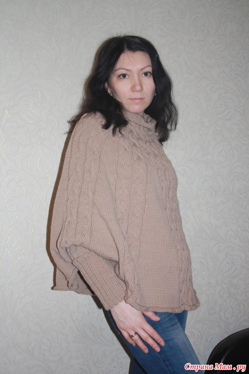 пальто из пряжи ализе суперлана миди