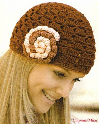 Украшение для вязаной шапки своими руками