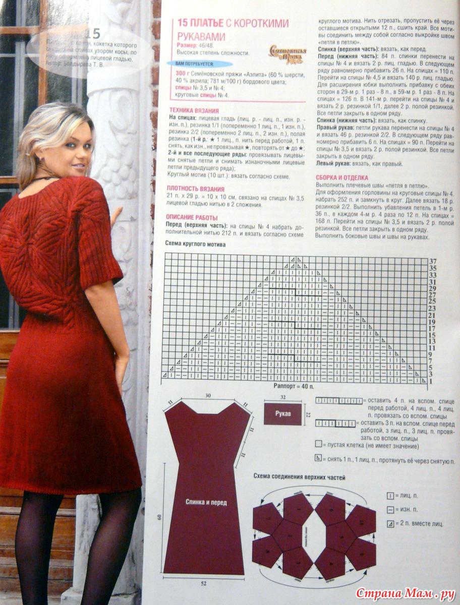 Платье женские вязаные спицами 2018 фото схемы